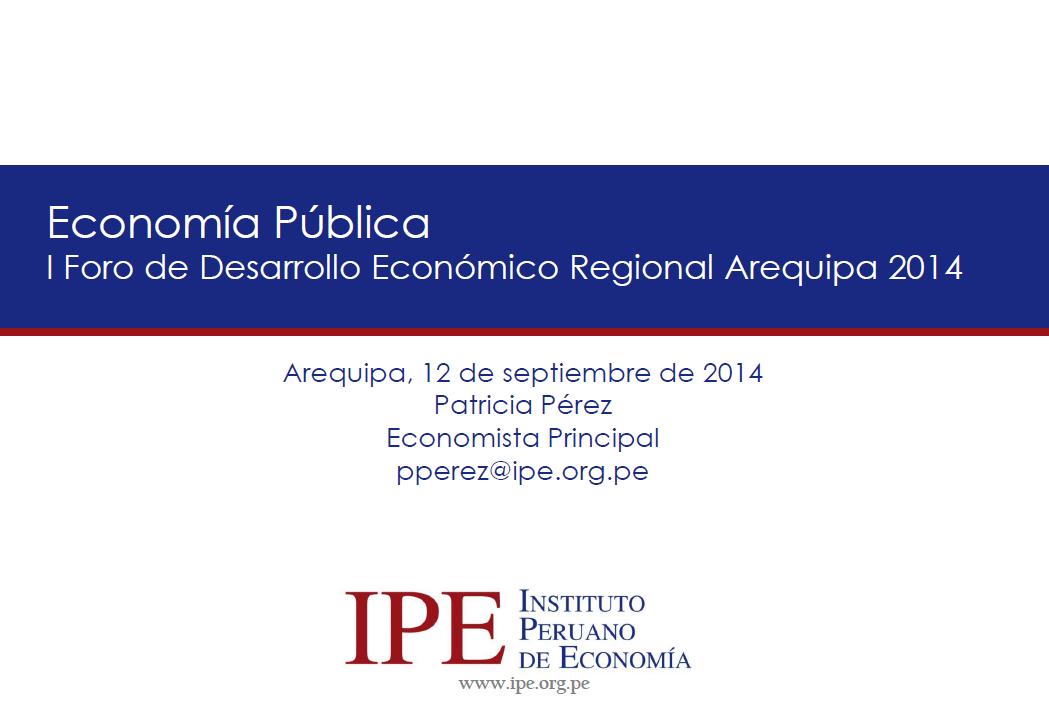 Economía Pública - Arequipa 2014