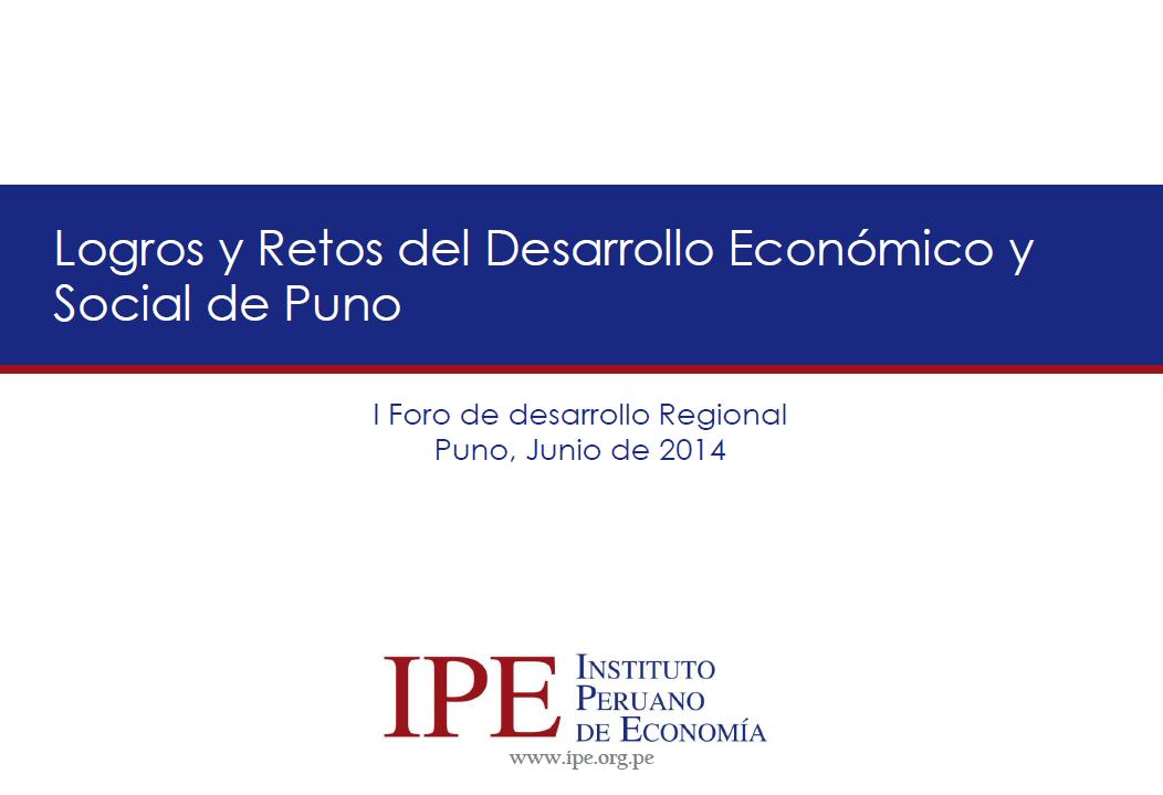 Logros y Retos del Desarrollo Económico y Social de Puno - Miguel Palomino
