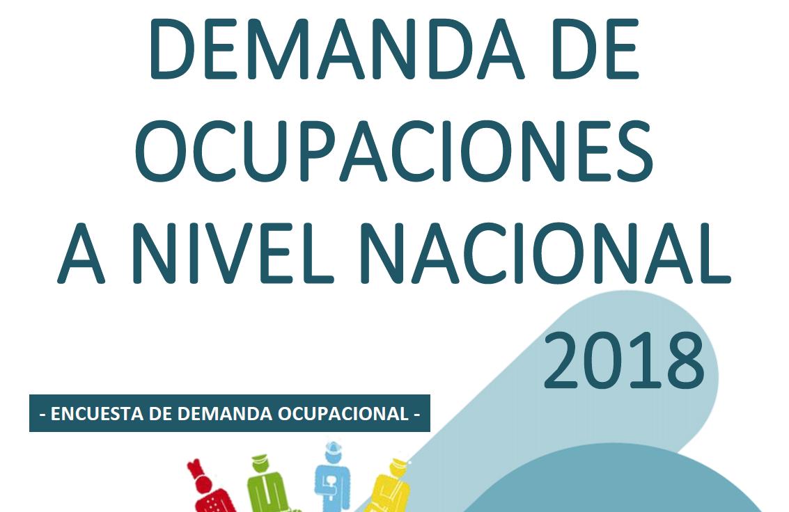 Demanda ocupaciones a nivel nacional 2018