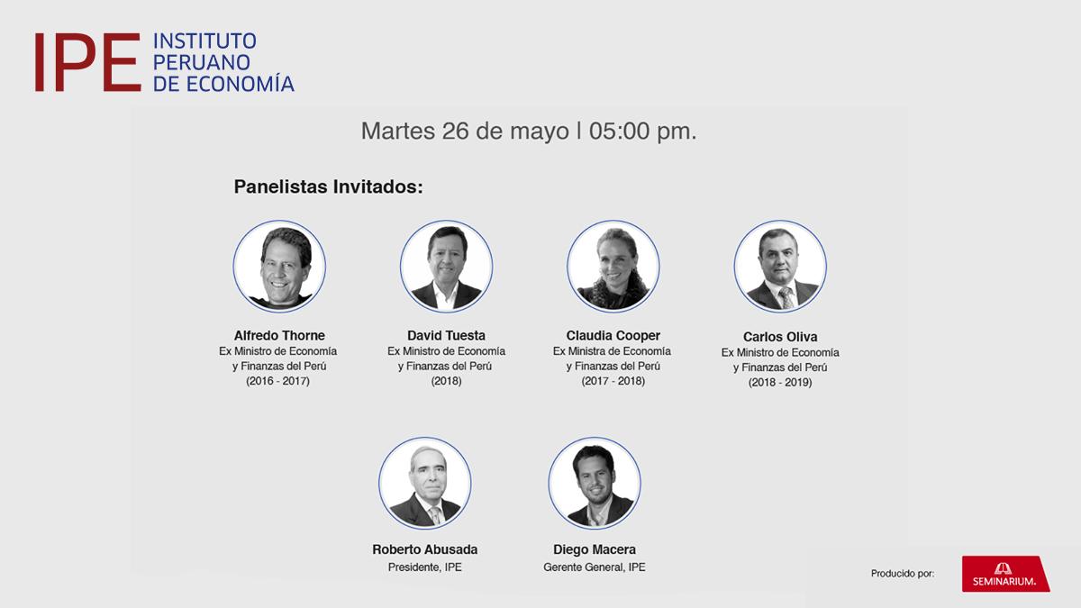 webinar, ipe, economía, Perú