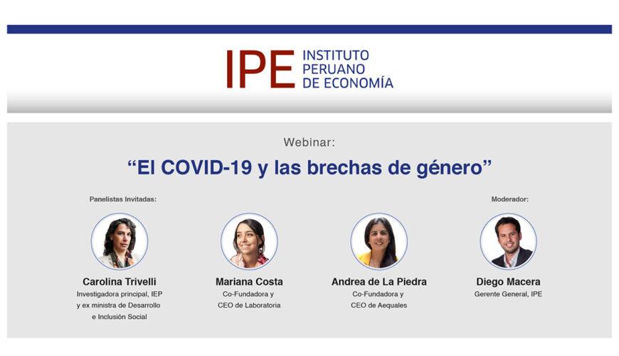 brecha de género, webinar, evento, impacto covid-19