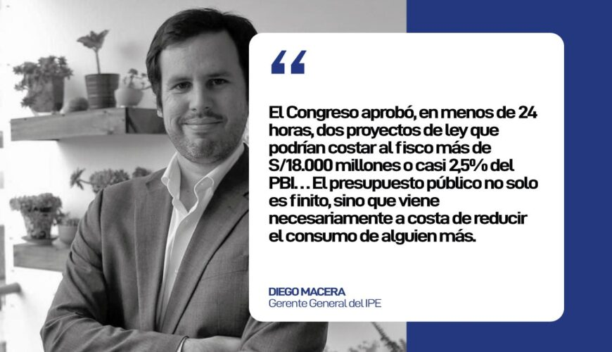 presupuesto, Diego Macera, economía, Congreso, Perú