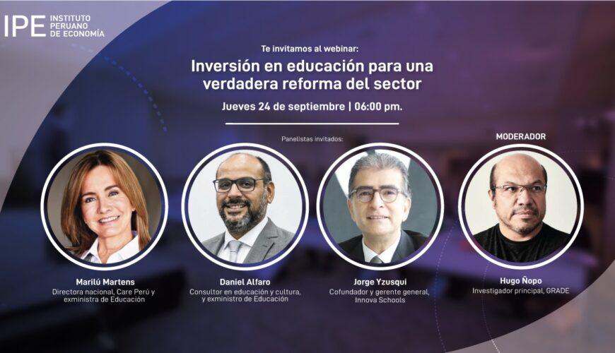 educación, webinar, IPE, hugo ñopo, Perú, reforma educativa
