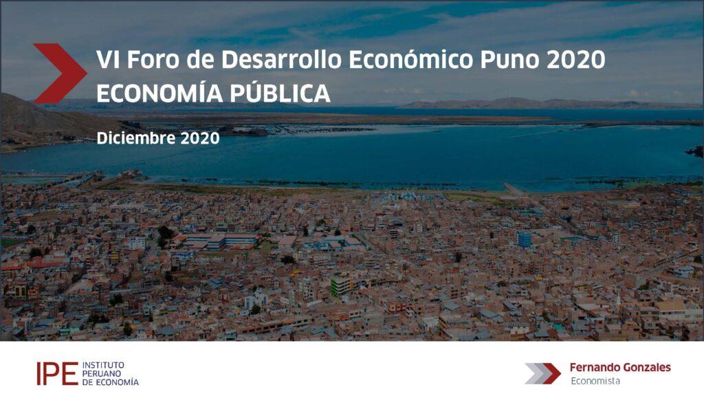 foro, puno, Fernando gonzales, economía pública