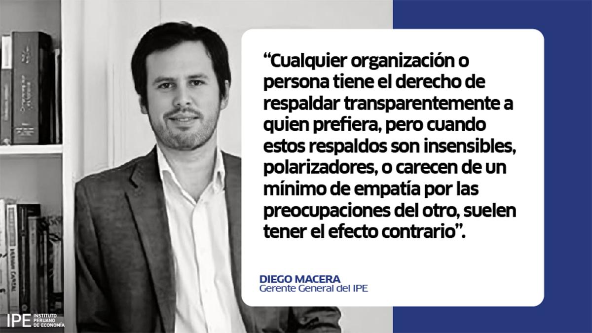 Diego macera, economía, Perú, elecciones