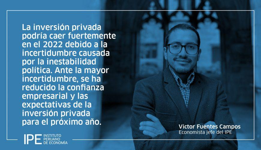 Inversión privada, economía, Perú, Victor Fuentes